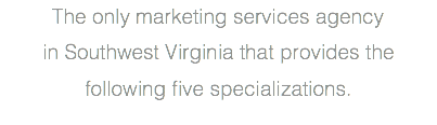 The only marketing services agency 